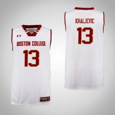 Boston College Eagles #13 Luka Kraljevic Cardinal College Basketball Jersey