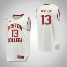 Boston College Eagles #13 Luka Kraljevic White College Basketball Jersey