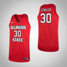 Illinois State Redbirds #30 Luke Litwiller Replica Red Jersey