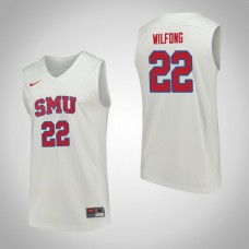 SMU Mustangs #22 Luke Wilfong White College Basketball Jersey