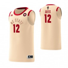 NC State Wolfpack #12 Manny Bates Harlem Renaissance Cream Jersey