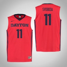 Dayton Flyers #11 Matej Svoboda Red College Basketball Jersey