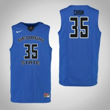 Georgia State Panthers #35 Matt Chism Blue College Basketball Jersey