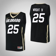 Colorado Buffaloes #25 McKinley Wright IV Black College Basketball Jersey