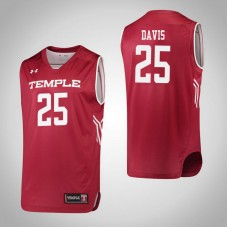 Temple Owls #25 Mia Davis Red College Basketball Jersey