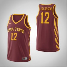 Iowa State Cyclones #12 Michael Jacobson Cardinal College Basketball Jersey