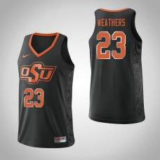 Oklahoma St Cowboys #23 Michael Weathers Black College Basketball Jersey
