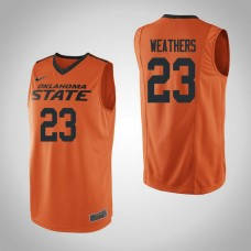 Oklahoma St Cowboys #23 Michael Weathers Orange College Basketball Jersey