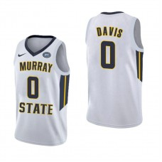Murray State Racers #0 Mike Davis White College Basketball Jersey