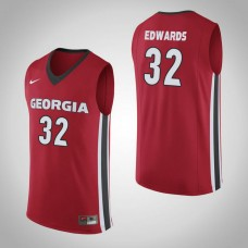 Georgia Bulldogs #32 Mike Edwards Red College Basketball Jersey