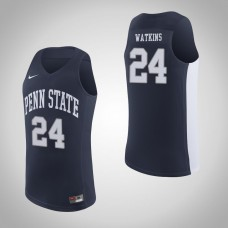 Penn State Nittany Lions #24 Mike Watkins Navy College Basketball Jersey