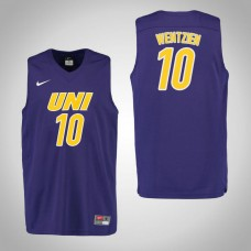 Northern Iowa Panthers #10 Miles Wentzien Purple College Basketball Jersey