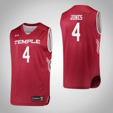 Temple Owls #4 Mykia Jones Red College Basketball Jersey