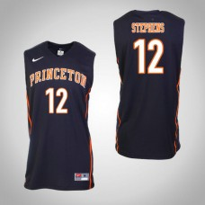 Princeton Tigers #12 Myles Stephens Black College Basketball Jersey