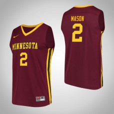 Minnesota Golden Gophers #2 Nate Mason Maroon College Basketball Jersey