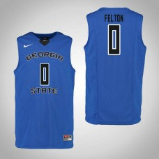Georgia State Panthers #0 Nile Felton Blue College Basketball Jersey