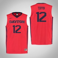 Dayton Flyers #12 Obadiah Toppin Red College Basketball Jersey