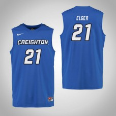 Creighton Bluejays #21 Olivia Elger Royal College Basketball Jersey