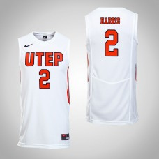 UTEP Miners #2 Omega Harris White College Basketball Jersey