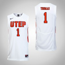 UTEP Miners #1 Paul Thomas White College Basketball Jersey