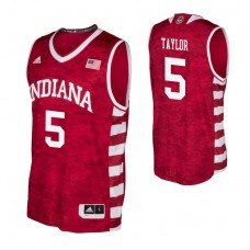 Indiana Hoosiers #5 Quentin Taylor Crimson College Basketball Jersey
