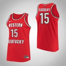 Western Kentucky #15 Raneem Elgedawy Red College Basketball Jersey
