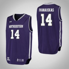 Northwestern Wildcats #14 Rapolas Ivanauskas Purple College Basketball Jersey