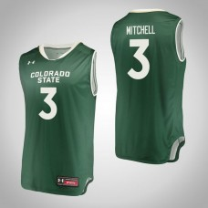 Colorado State Rams #3 Raquan Mitchell Green College Basketball Jersey