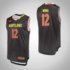 Maryland Terrapins #12 Reese Mona Black College Basketball Jersey