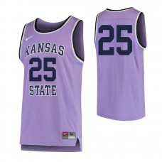 Kansas State Wildcats #25 Replica Purple Jersey