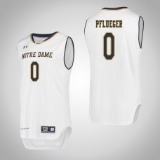 Notre Dame Fighting Irish #0 Rex Pflueger White College Basketball Jersey