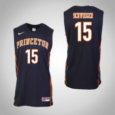 Princeton Tigers #15 Ryan Schwieger Black College Basketball Jersey