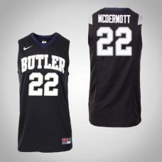 Butler Bulldogs #22 Sean McDermott Black College Basketball Jersey