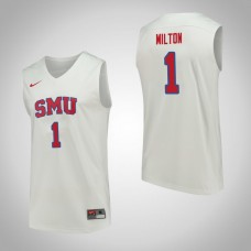 SMU Mustangs #1 Shake Milton White College Basketball Jersey