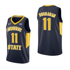 Murray State Racers #11 Shaq Buchanan Navy College Basketball Jersey