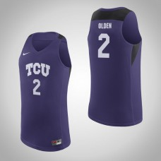TCU Horned Frogs #2 Shawn Olden Purple College Basketball Jersey