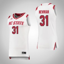 NC State Wolfpack #31 Spencer Newman Replica White Jersey