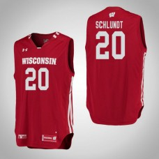 Wisconsin Badgers #20 T.J. Schlundt Red College Basketball Jersey