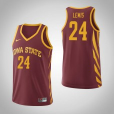 Iowa State Cyclones #24 Terrence Lewis Cardinal College Basketball Jersey