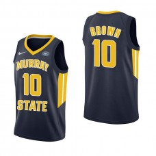 Murray State Racers #10 Tevin Brown Navy College Basketball Jersey