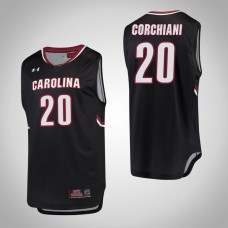 South Carolina Gamecocks #20 Tommy Corchiani Black College Basketball Jersey