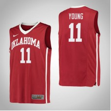 Oklahoma Sooners #11 Trae Young Red College Basketball Jersey