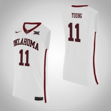 Oklahoma Sooners #11 Trae Young White Jersey