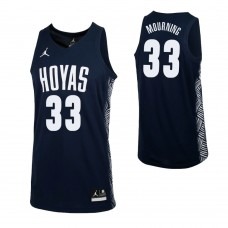Georgetown Hoyas #33 Trey Mourning Replica Navy Jersey