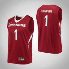 Arkansas Razorbacks #1 Trey Thompson Red College Basketball Jersey