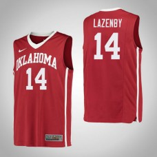 Oklahoma Sooners #14 Ty Lazenby Red College Basketball Jersey