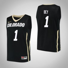 Colorado Buffaloes #1 Tyler Bey Black College Basketball Jersey