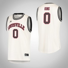 Louisville Cardinals #0 V.J. King Cream College Basketball Jersey