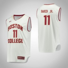 Boston College Eagles #11 Vin Baker Jr. White College Basketball Jersey