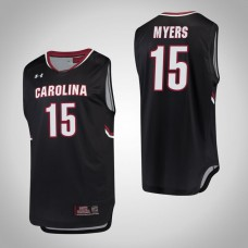South Carolina Gamecocks #15 Wesley Myers Black College Basketball Jersey